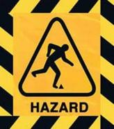 Rick management hazard sign